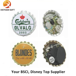 Tin Material Custom Logo LED Beer Flash Badge