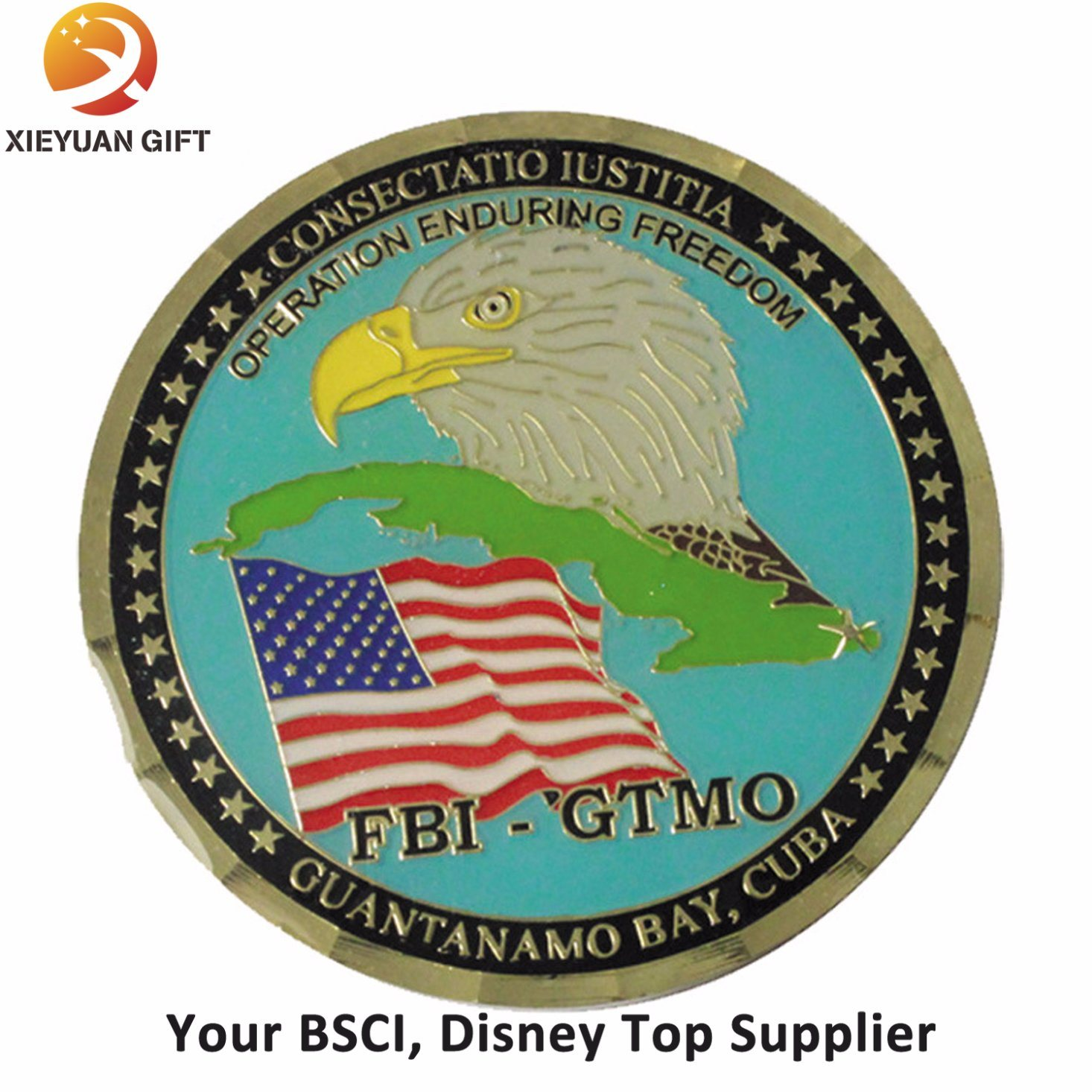 Free Sample Metal Coin with Eagle