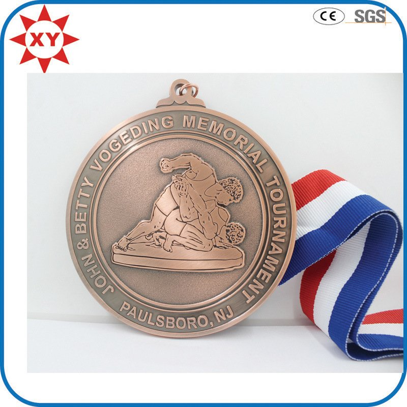 New Products Copper Medal Custom with Ribbon