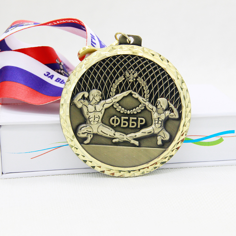 Factory Custom Fast Delivery Sticker Running Medals Supplier Wholesale Round Shape Sports Medal