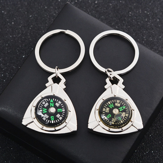 Factory High Quality Supply Black Custom Calendar The Compass Key Chain