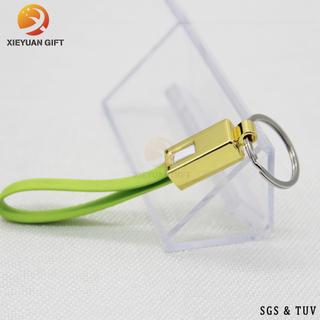 China Supply Custom Green Usb And PC Converter Silicone Key Chain