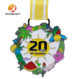 3D High Quality Professional Customized Metal marathon Sport Medal of Souvenir